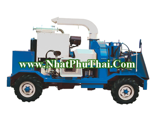 Complex Sawdust, Chip Producer (Movable Diesel Engine Driving 4WD) Made In Korea